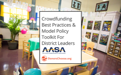 Crowdfunding Best Practices &Model Policy Toolkit from AASA