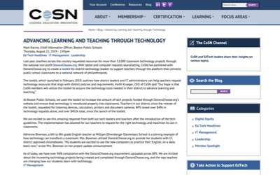 CoSN Blog: Advancing Learning and Teaching through Technology