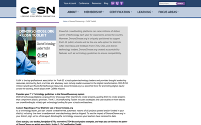 District Technology Leaders Toolkit from CoSN