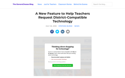 Helping Teachers Request District-Compatible Technology